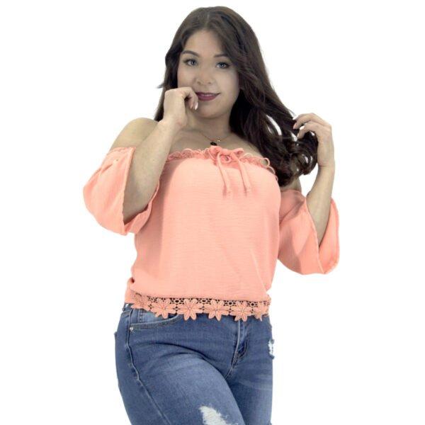 blusa straple y mangas