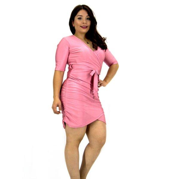 vestido corto ajustado